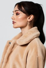 Rut&Circle Tanja Faux Fur Coat Beige