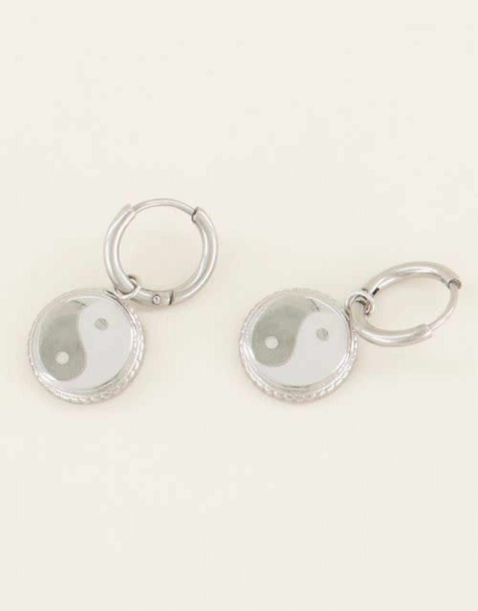 MyJewellery Oorbellen Yin&Yang Zilver