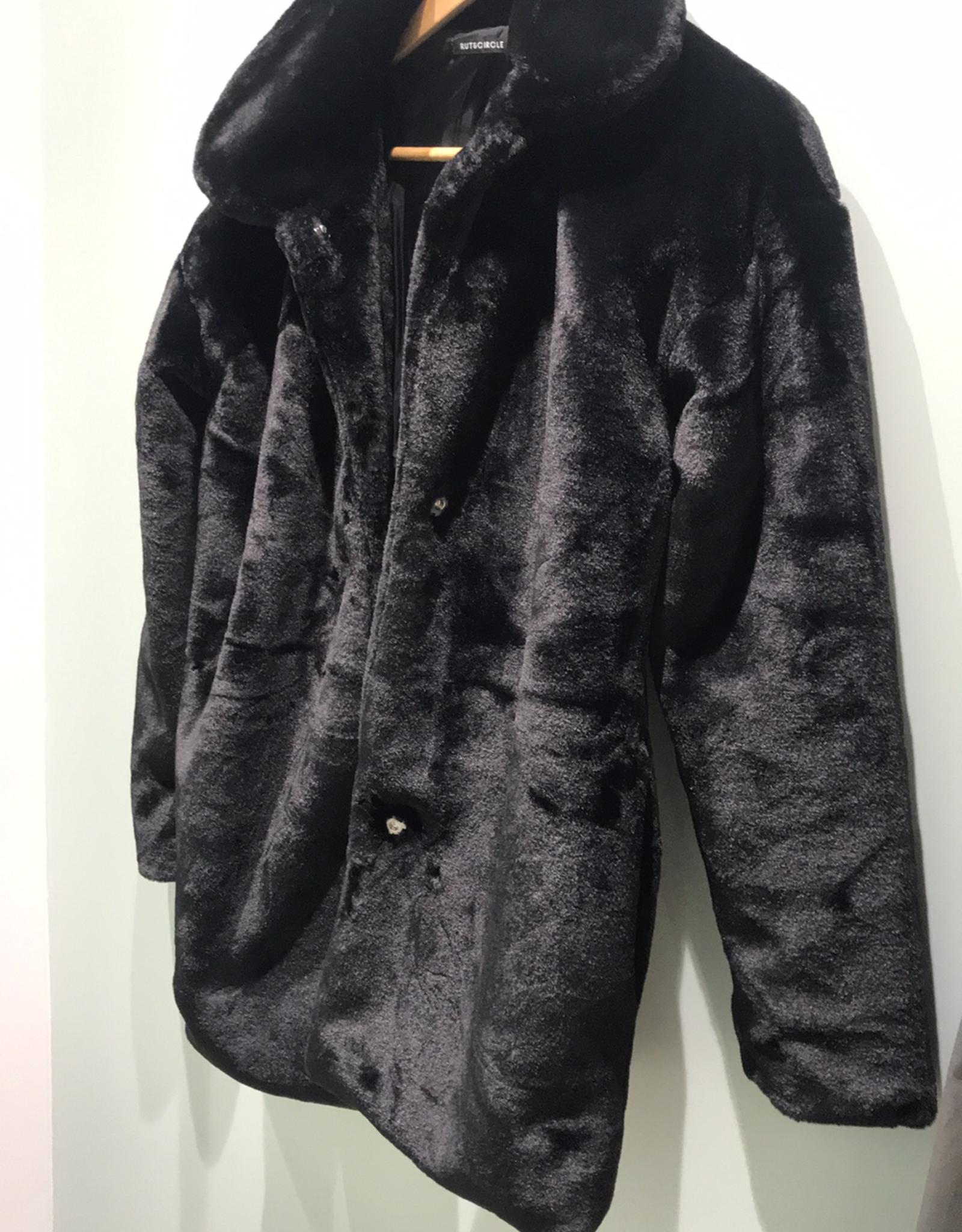 Rut&Circle Tanja Faux Fur Coat Black