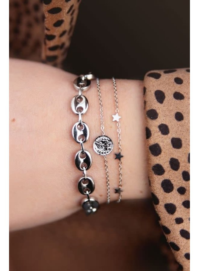 Armband Sterretjes Zilver
