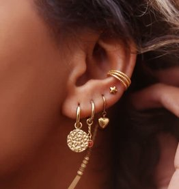 MyJewellery Ear Cuff Drie Ringetjes Goud