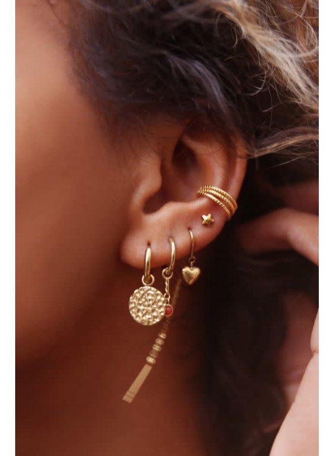 Ear Cuff Drie Ringetjes Goud