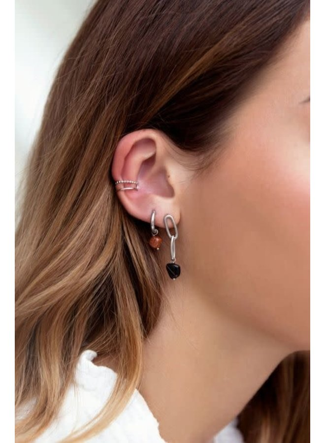 Ear Cuff Dubbele Ring Goud