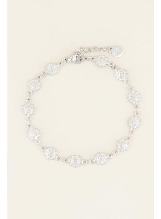 Armband Bloemetjes Zilver