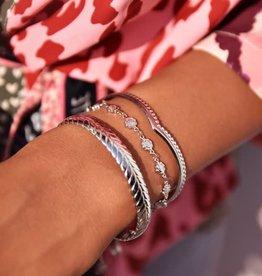 MyJewellery Armband Bloemetjes Zilver