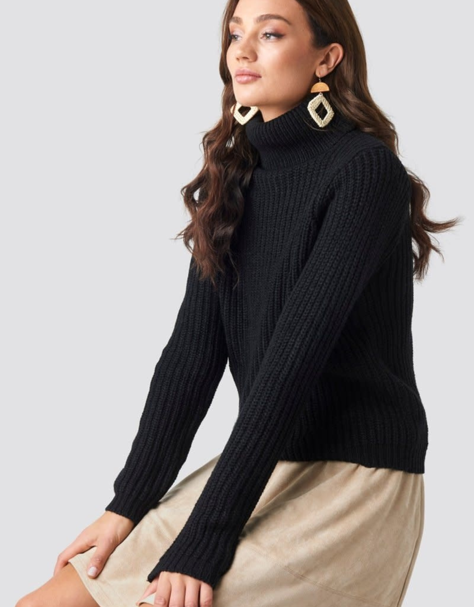 Rut&Circle Tinelle Rollneck Knit Black