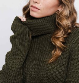 Rut&Circle Tinelle Rollneck Knit Army Green