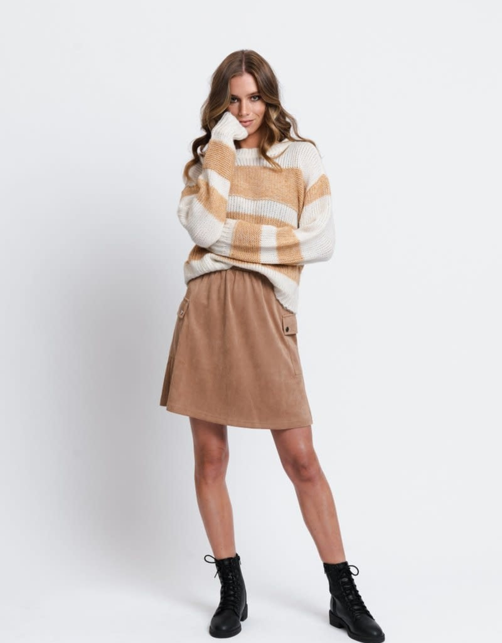 Rut&Circle Nora Striped Knit