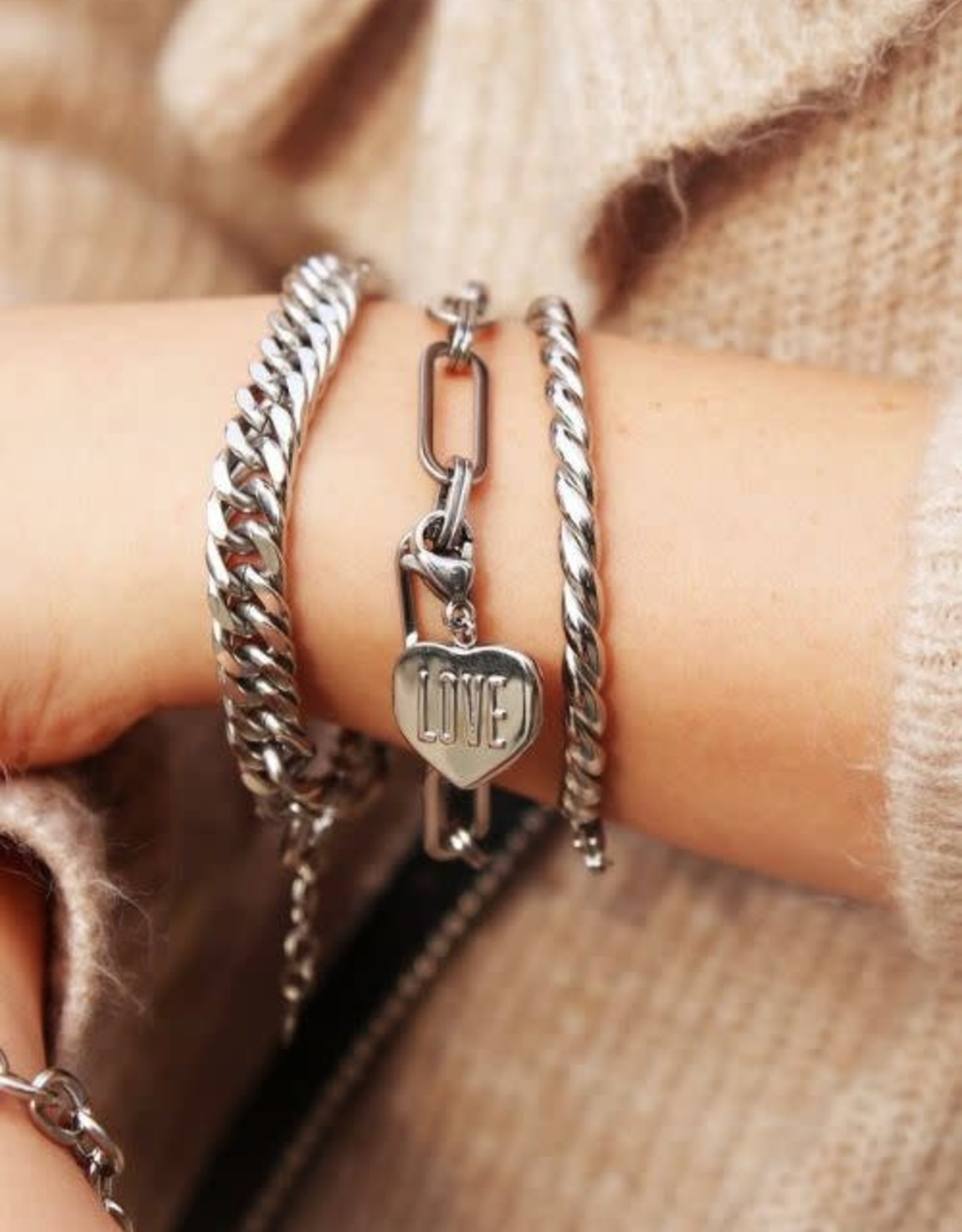 Armband Grote Ovale Schakels Goud