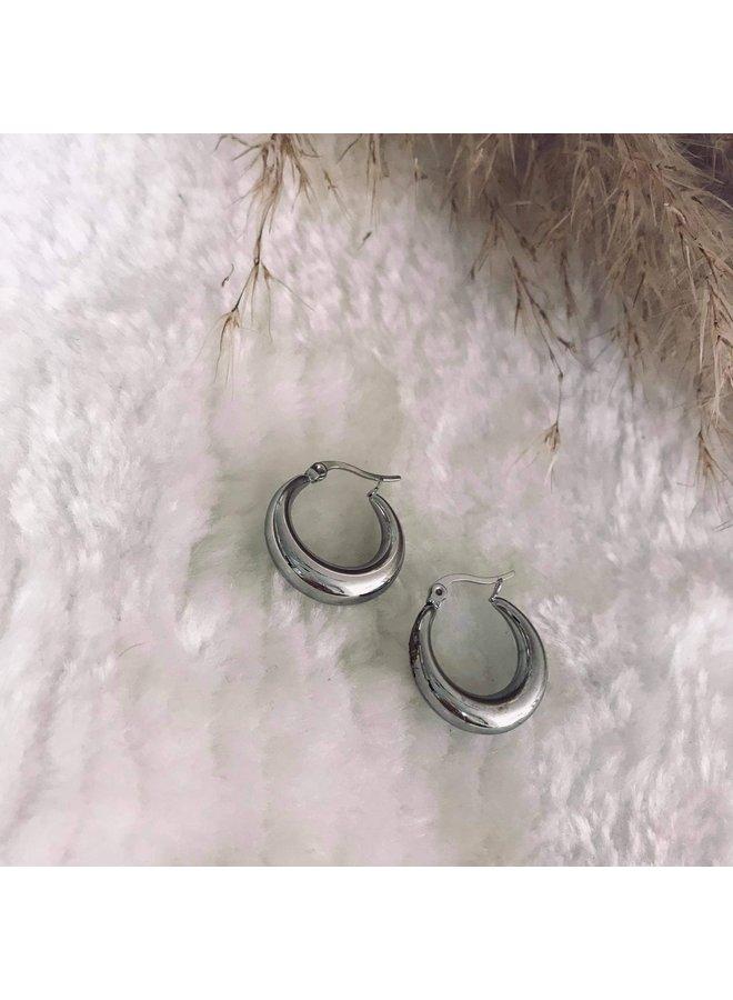 Oorringen Les Antiques Inès Zilver