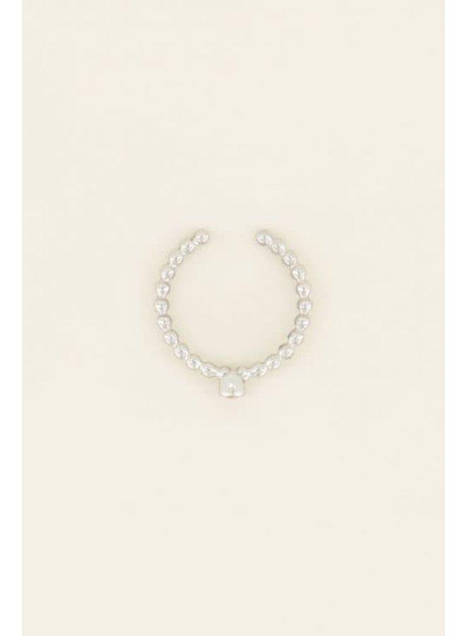 Geboortesteen Ring Januari Zilver