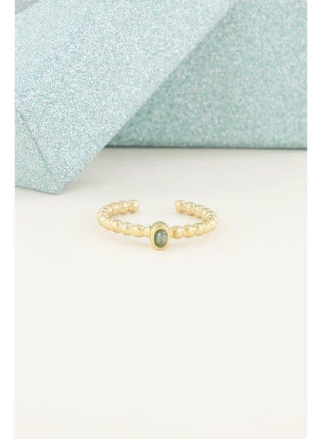 Geboortesteen Ring Maart Goud