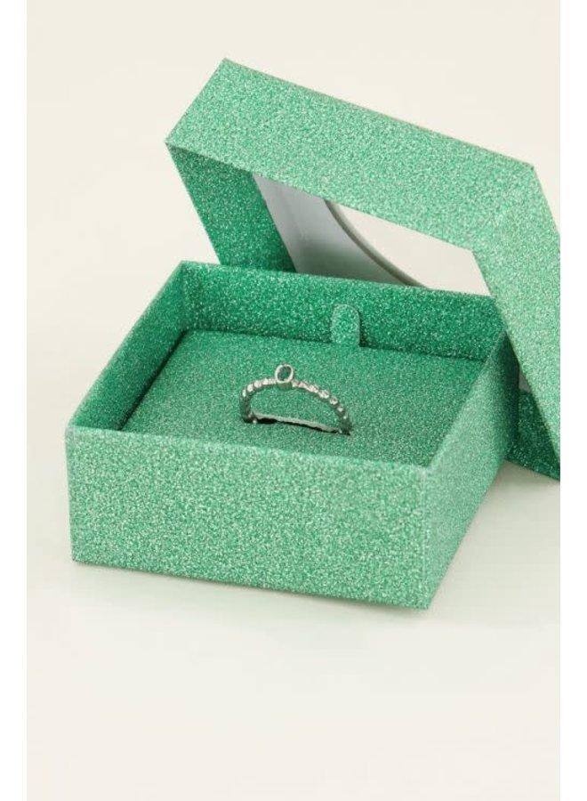 Geboortesteen Ring Mei Zilver