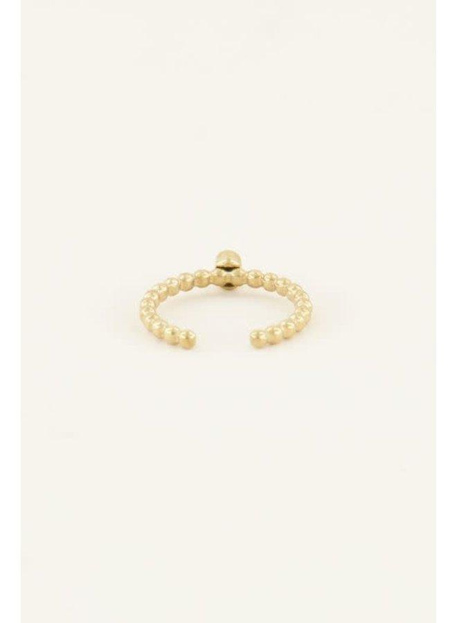 Geboortesteen Ring Juni Goud