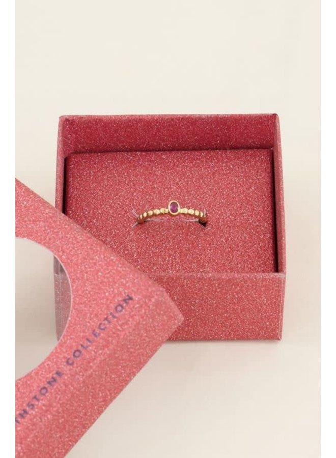 Geboortesteen Ring Juli Goud