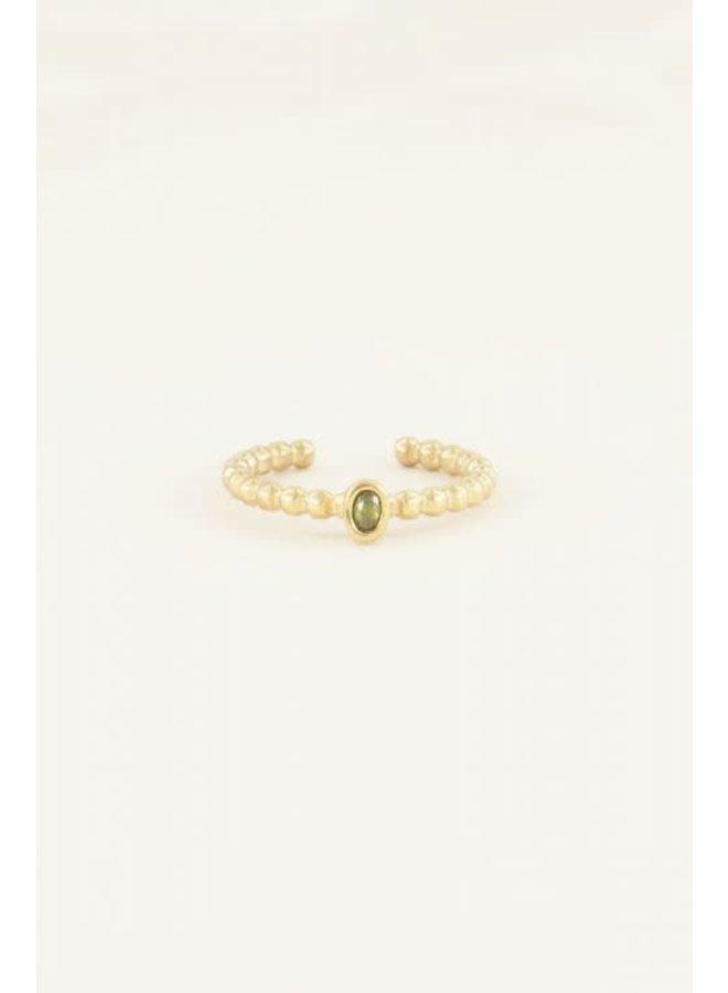 Geboortesteen Ring Augustus Goud