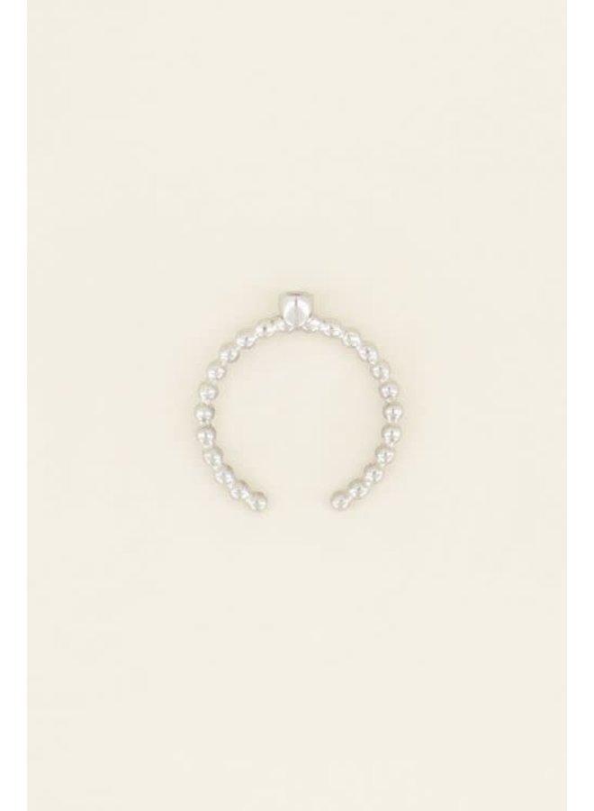 Geboortesteen Ring Oktober Zilver