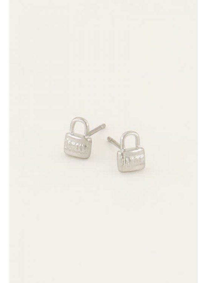 Studs Love Lock Zilver