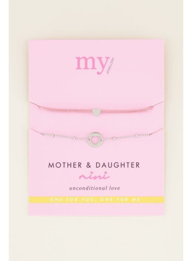 Moeder & Dochter Armband Mini Zilver