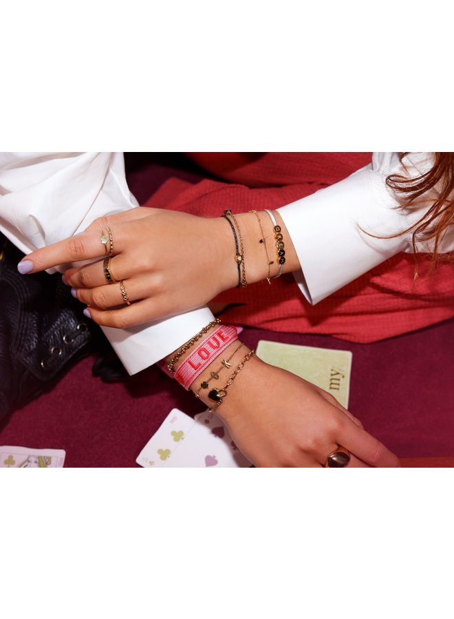 Armband met Hart Slotje Zilver