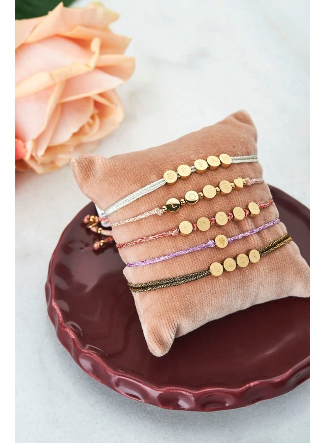 Touw Armbandje Amour Goud