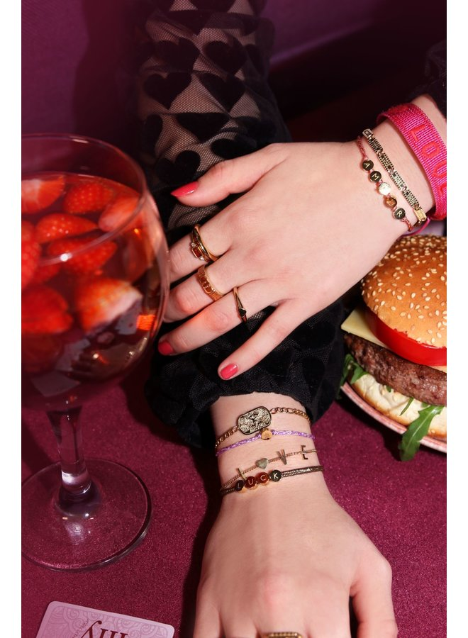 Armband Love & Hartje Zilver