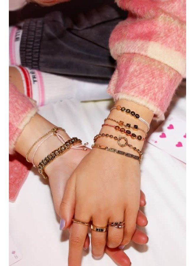 Armband Bolletjes Rond Slot Goud