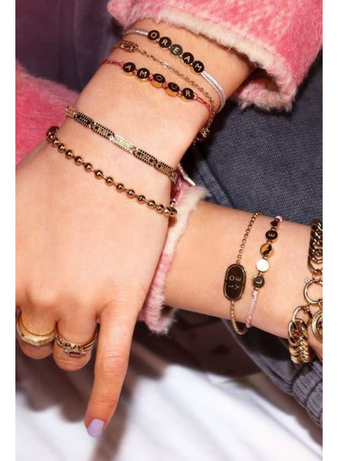 Armband Lucky Words Goud