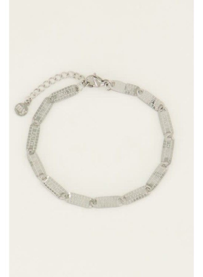 Armband Lucky Words Zilver
