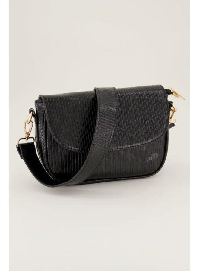 Zwarte Handtas met Tasje