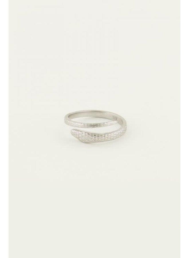 Ring met Slang Zilver