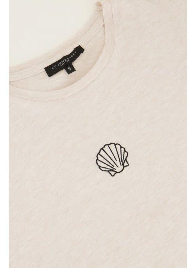 T-shirt met Schelpje