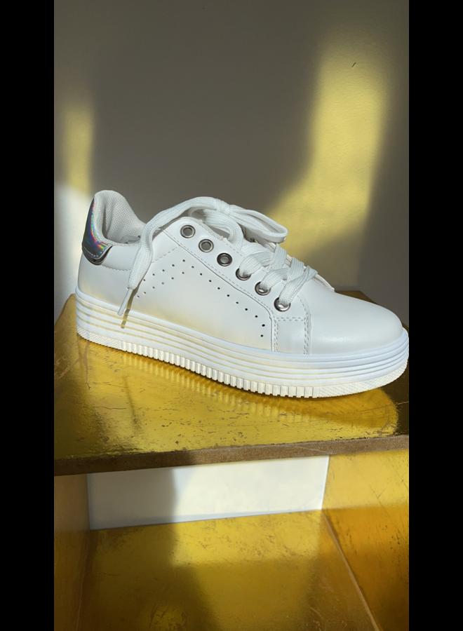 Sneakers Silver Heel