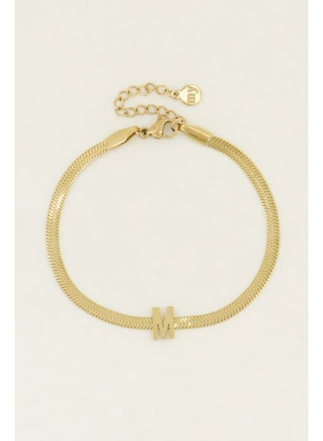 Armband The New Initial Goud