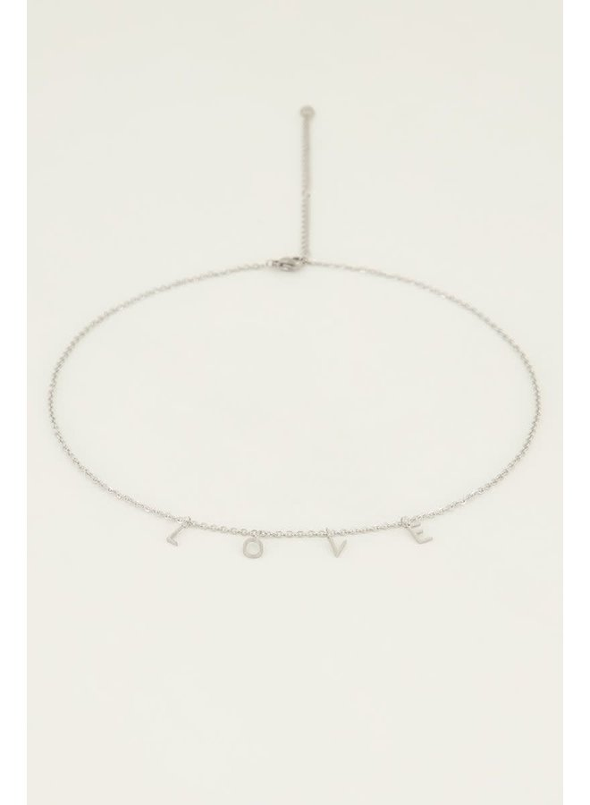 Ketting Letters Love Zilver