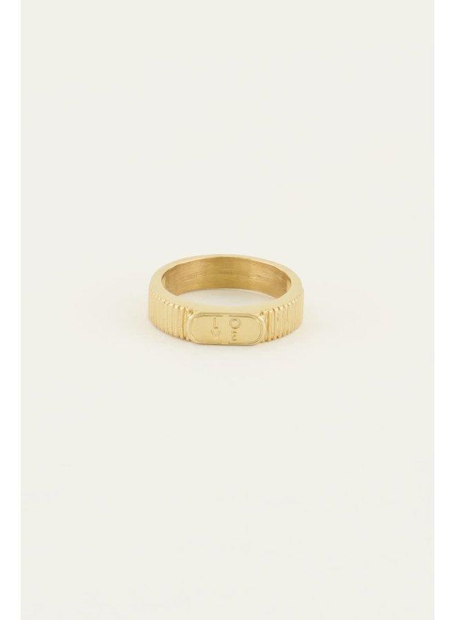 Ring Love Goud