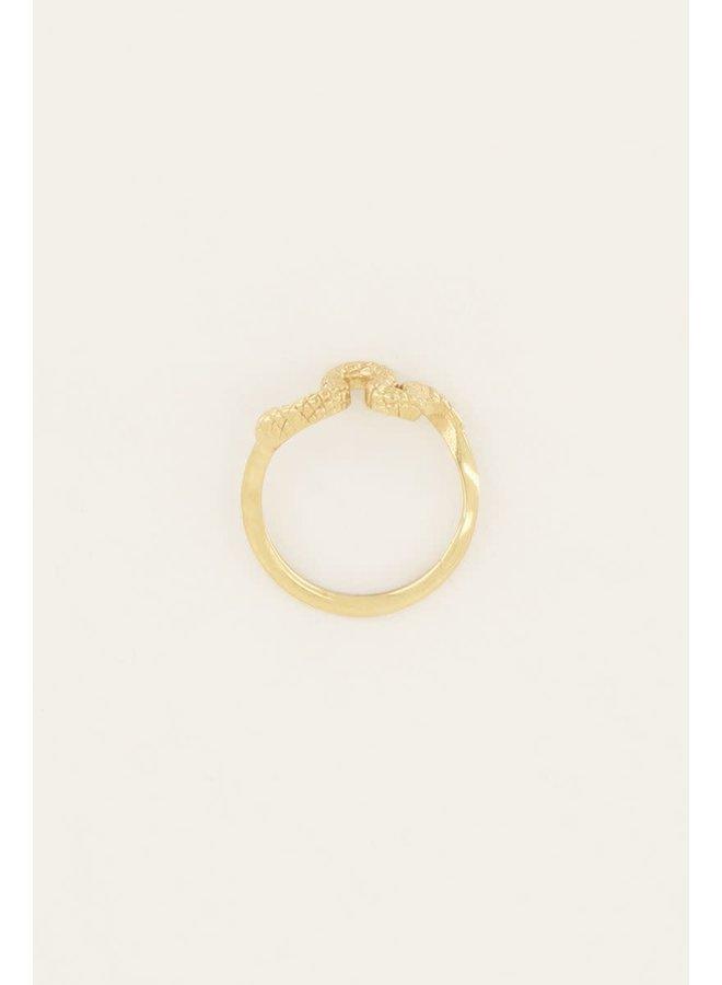 Ring met Slang Goud