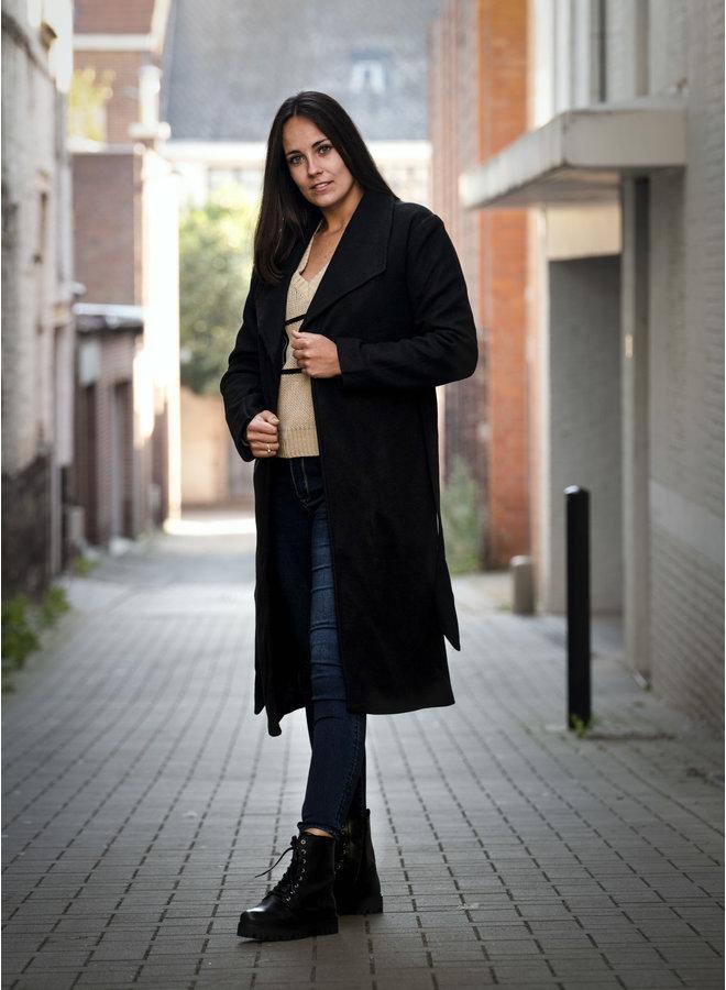 Bonnie Long Coat Black