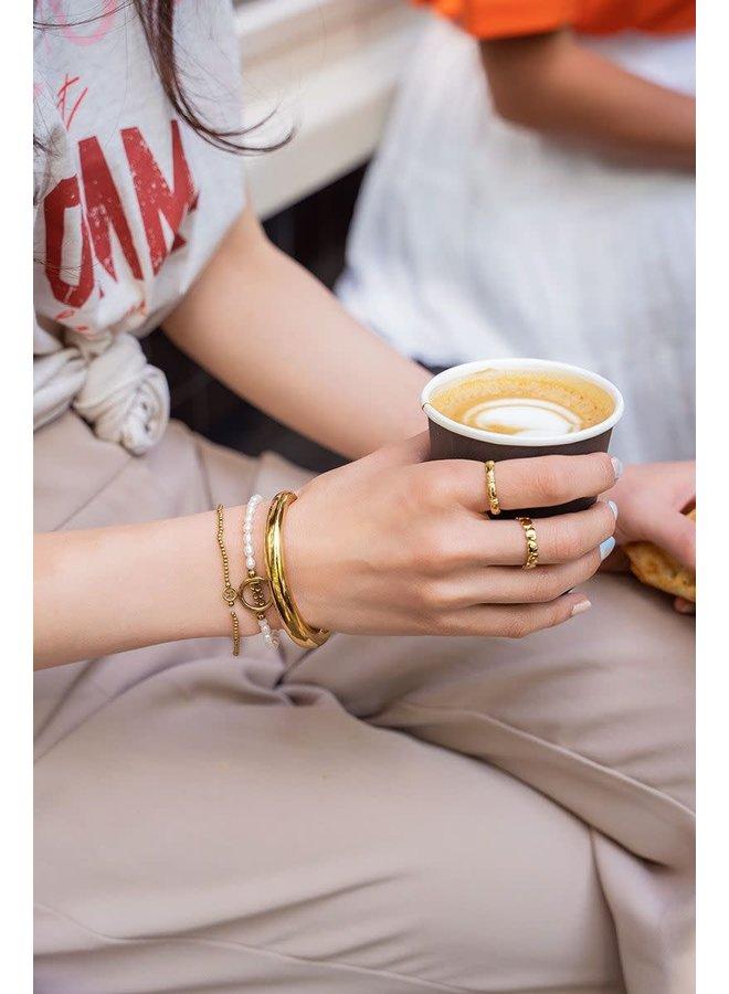 Armband Jaartal Parels Goud