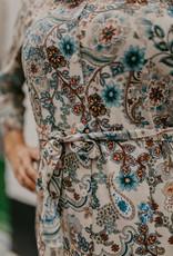 Heart Mind Dorian Midi Dress Floral Ecru