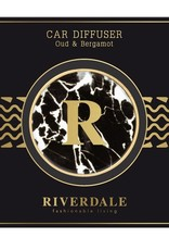 Riverdale Autoparfum Zwart Oud & Bergamot