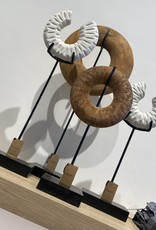 Riverdale Ornament Boho Wit/Zwart 47cm