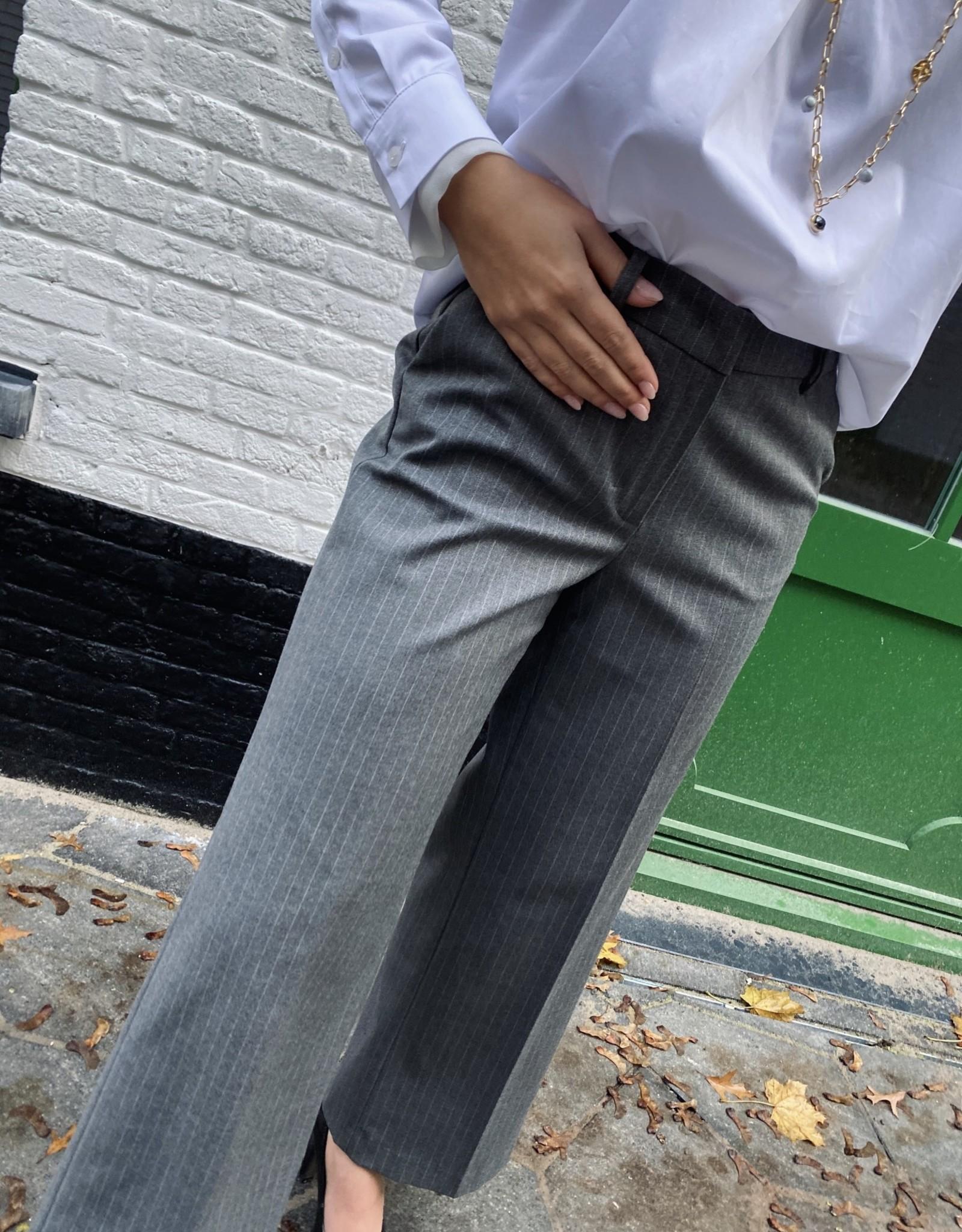 Heart Mind Piper Pants Pinestripe Grey