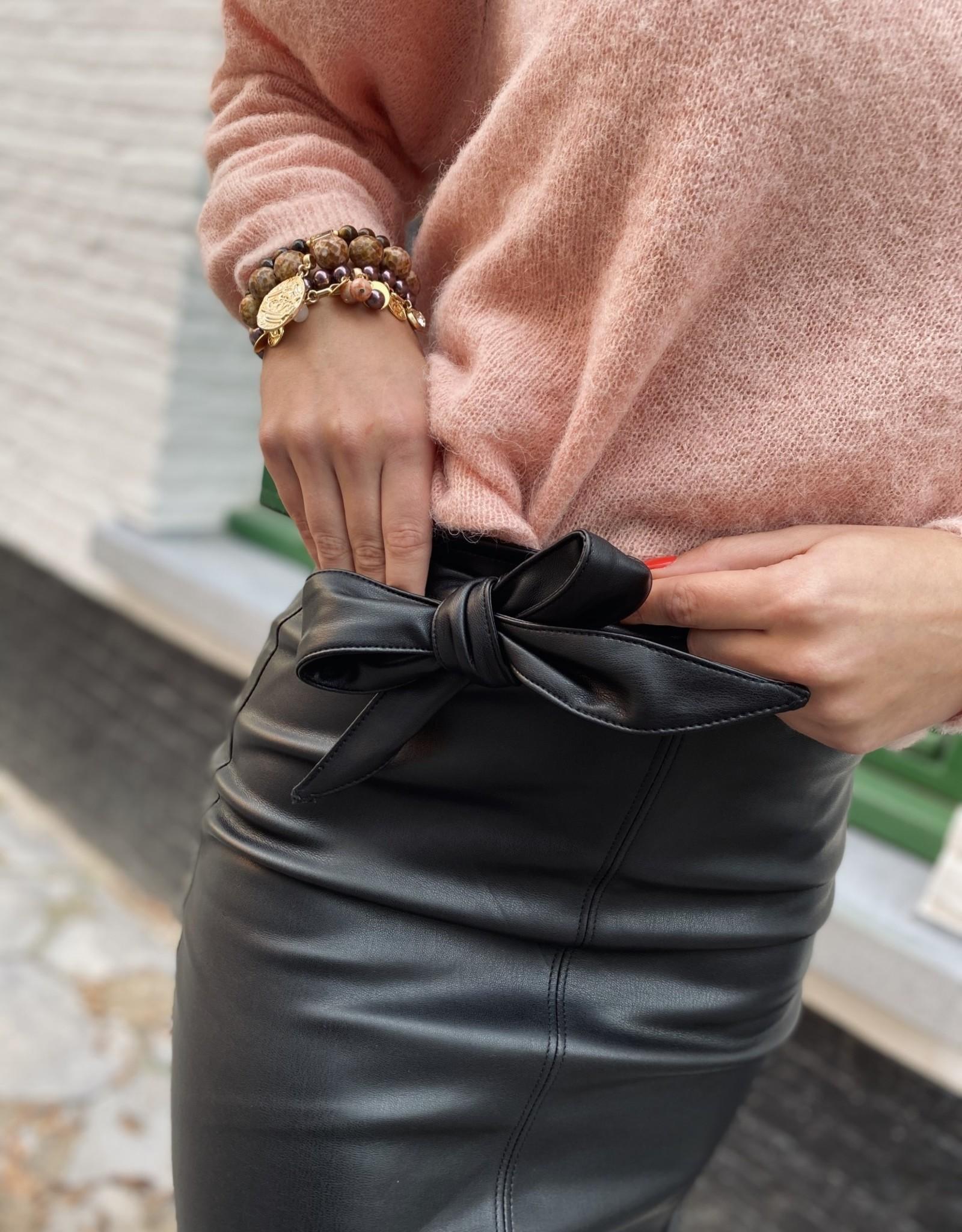Esqualo W20.04703 Skirt Leather Black