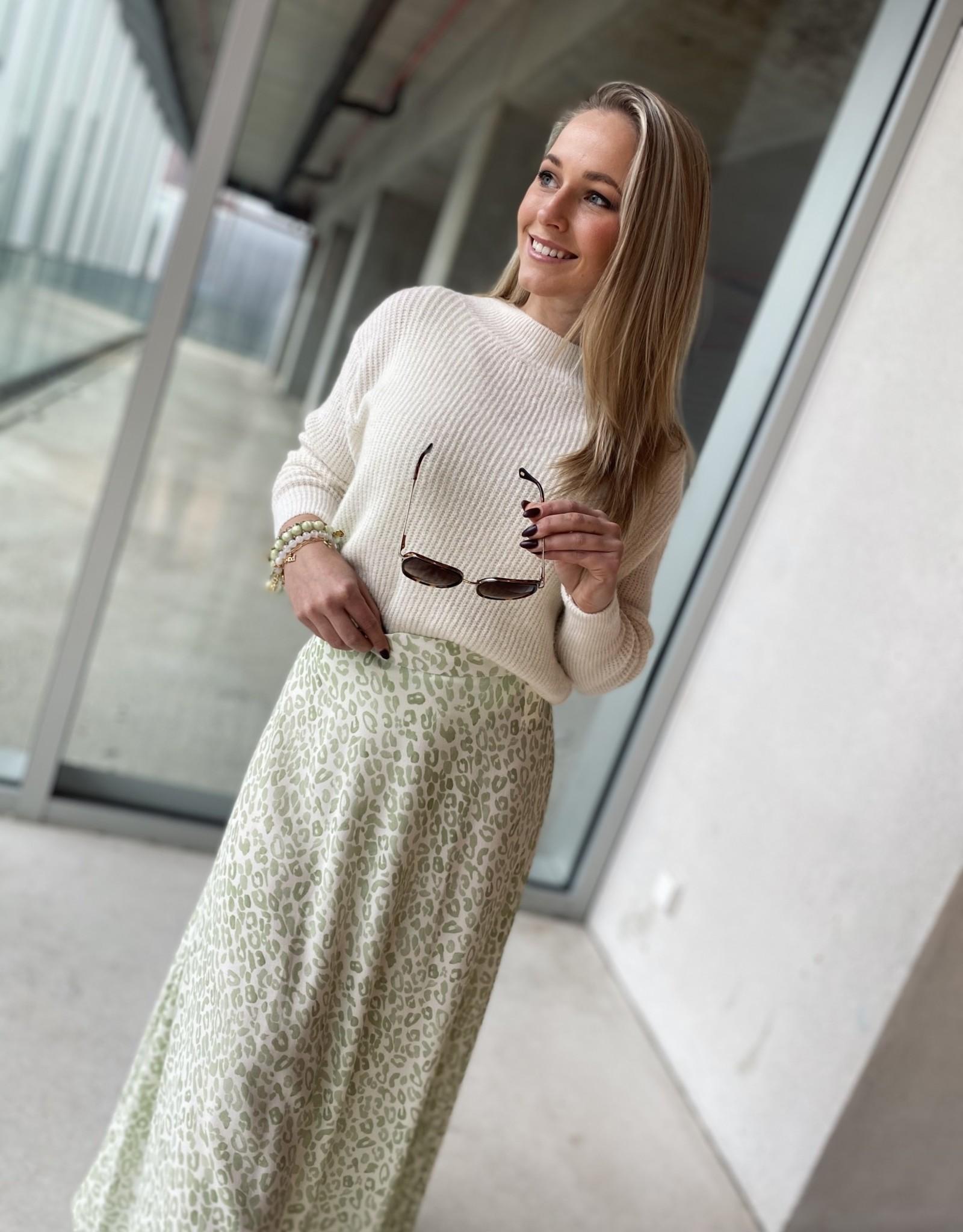 Heart Mind Sixt Skirt Leopard Mint