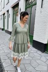 Esqualo SP21.08000 Dress Satin Light Green