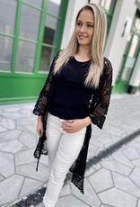 Esqualo HS21.02208 Cardigan Crochet Black