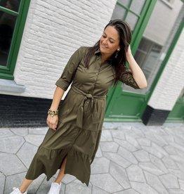 Green Ice Adora Long Dress Khaki