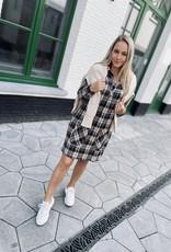 Heart Mind Dana Dress Tartan Taupe
