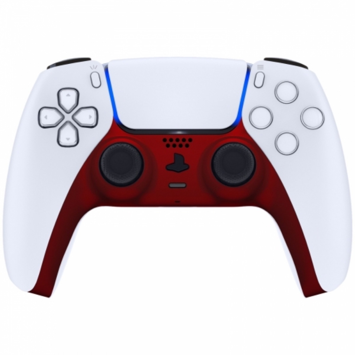 Consoleskins Sony PS5 DualSense Draadloze Controller - Rood Soft Touch Cover Custom
